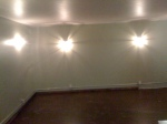 The walls are painted in the live room. Control room is next. More to come!